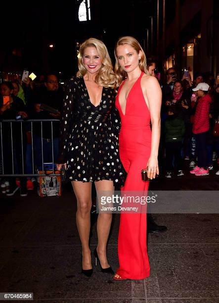 Christie Brinkley and Sailor BrinkleyCook arrive to Harper's BAZAAR 150th Anniversary Event at The Rainbow Room on April 19 2017 in New York City