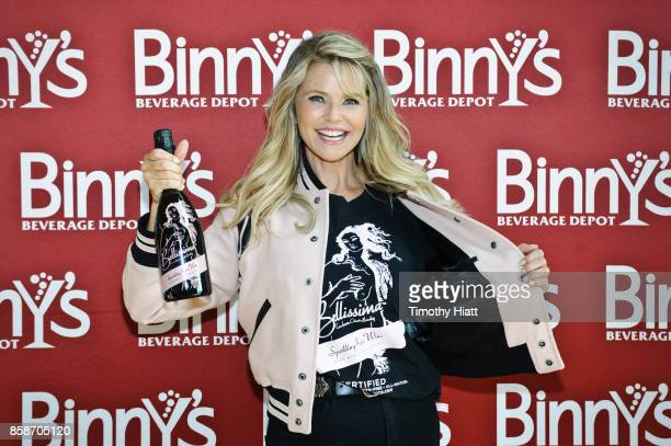Christie Brinkley appears at Binny's Beverage Depot on October 7 2017 in Chicago Illinois