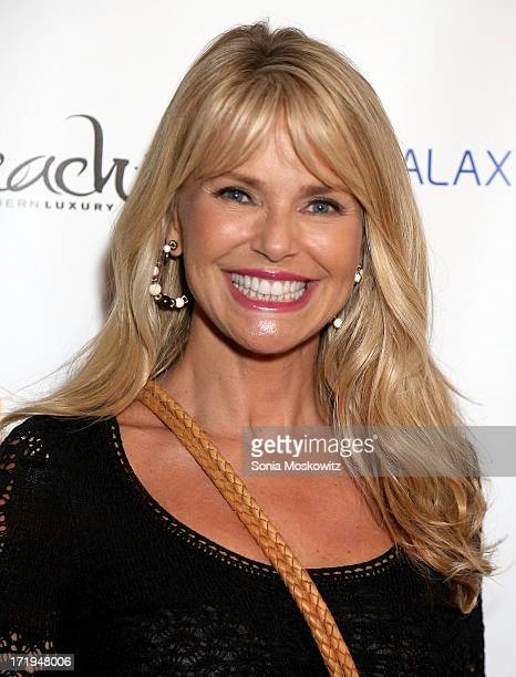 Christie Brinkley attends A Special Hamptons Screening Of 'The WayWay Back' After Party at Goose Creek on June 29 2013 in East Hampton New York