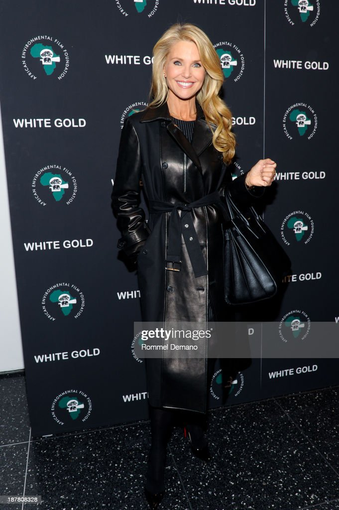 <a gi-track='captionPersonalityLinkClicked' href=/galleries/search?phrase=Christie+Brinkley&family=editorial&specificpeople=204151 ng-click='$event.stopPropagation()'>Christie Brinkley</a> attends a special screening of 'White Gold' at Museum of Modern Art on November 12, 2013 in New York City.