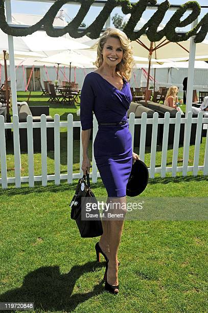 Christie Brinkley attends Cartier International Polo Day 2011 celebrating 100 years of the Coronation Cup at Guards Polo Club on July 24 2011 in...