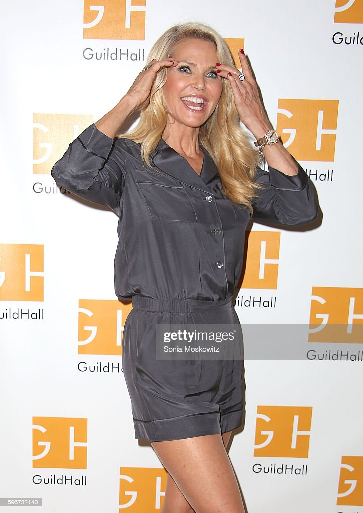 Christie Brinkley attends 'Celebrity Autobiography' at Guild Hall on August 26 2016 in East Hampton New York