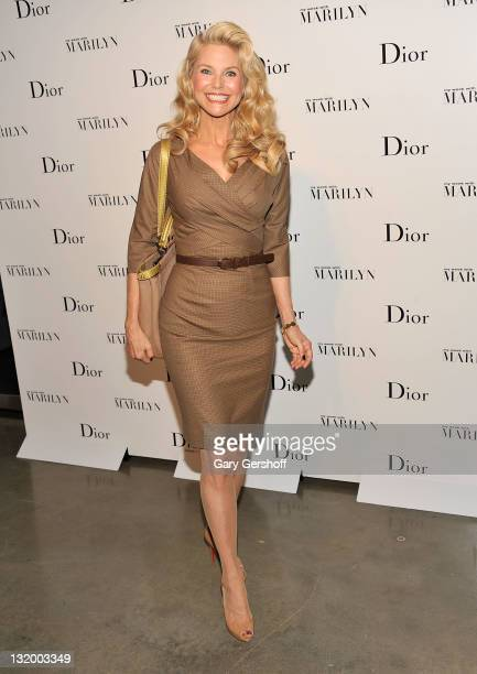 Christie Brinkley attends Dior and The Weinstein Company's Opening Of 'Picturing Marilyn' at Milk Gallery on November 9 2011 in New York City