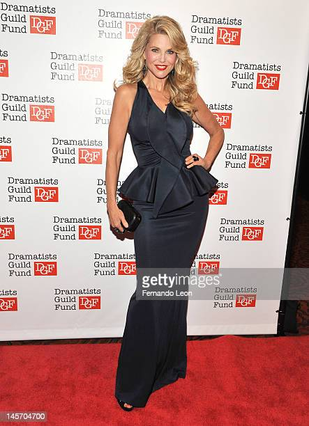 Christie Brinkley attends Dramatists Guild Fund's 50th Anniversary Gala Honoring John Kander at Mandarin Oriental Hotel on June 3 2012 in New York...