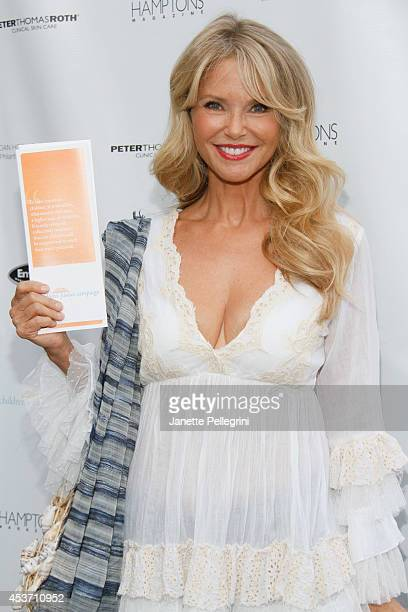 Christie Brinkley attends Hamptons Magazine Celebration of The Children's Justice Campaign Of Joan George Hornig on August 16 2014 in Water Mill New...