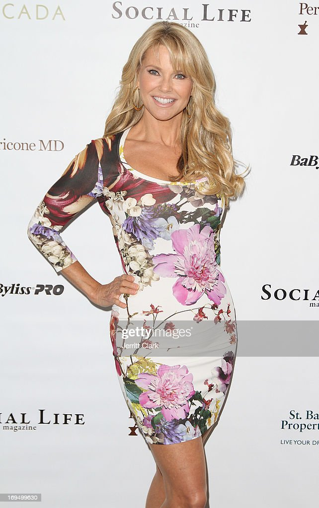 <a gi-track='captionPersonalityLinkClicked' href=/galleries/search?phrase=Christie+Brinkley&family=editorial&specificpeople=204151 ng-click='$event.stopPropagation()'>Christie Brinkley</a> attends her 'Social Life Magazine' Cover Celebration on May 25, 2013 in Water Mill, New York.