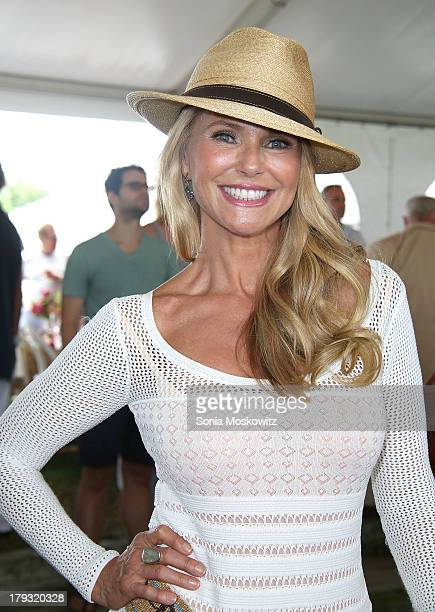 Christie Brinkley attends the 38th Annual Hampton Classic Horse Show Grand Prix Sunday on September 1 2013 in Bridgehampton New York