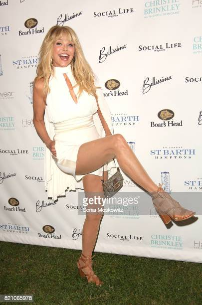 Christie Brinkley attends the 6th Annual St Barth Hamptons Gala at the Bridgehampton Historical Museum on July 22 2017 in Bridgehampton New York