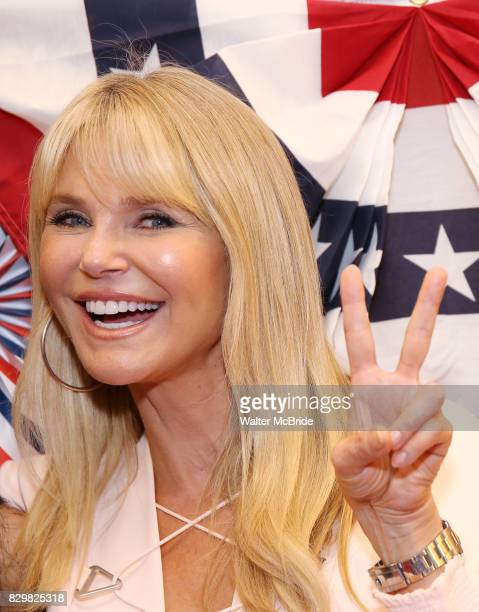 Christie Brinkley attends the Broadway Opening Night Performance for 'Michael Moore on Broadway' at the Belasco Theatre on August 10 2017 in New York...