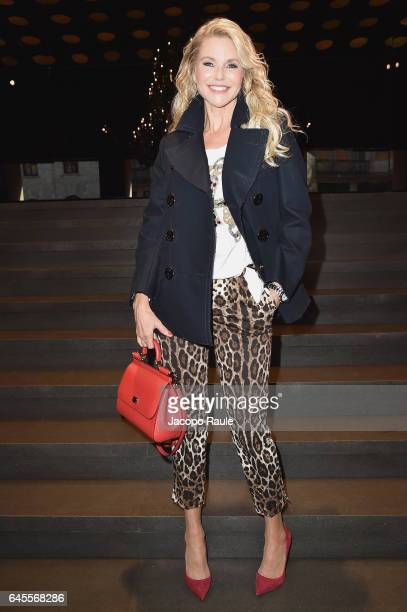 Christie Brinkley attends the Dolce Gabbana show during Milan Fashion Week Fall/Winter 2017/18 on February 26 2017 in Milan Italy