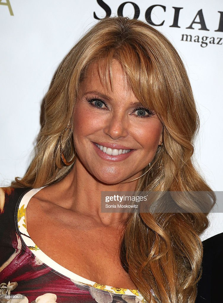Christie Brinkley attends the Social Life Magazine 10 Year Anniversary Party at 70 Tanager Lane on May 25, 2013 in Watermill, New York.