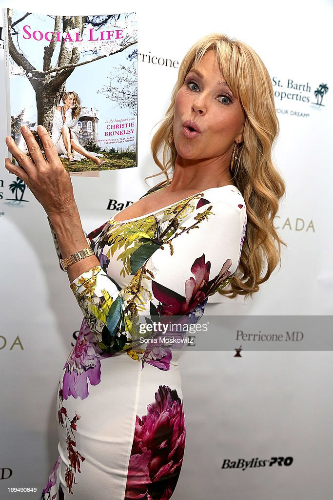 <a gi-track='captionPersonalityLinkClicked' href=/galleries/search?phrase=Christie+Brinkley&family=editorial&specificpeople=204151 ng-click='$event.stopPropagation()'>Christie Brinkley</a> attends the Social Life Magazine 10 Year Anniversary Party at 70 Tanager Lane on May 25, 2013 in Watermill, New York.