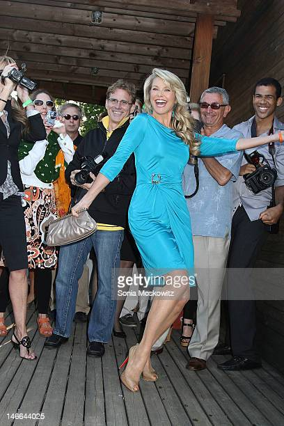 Christie Brinkley attends the South Fork Natural History Museum Honoring Christie Brinkleyat South Fork Natural History Museum on June 16 2012 in Sag...