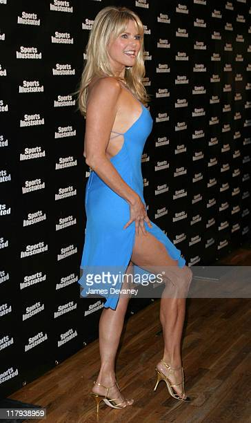 Christie Brinkley during 2004 Sports Illustrated Swimsuit Issue Top Models Celebrate the Issue's 40th Anniversary at Club Deep in New York City New...