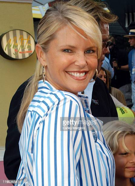 Christie Brinkley during 2004 US Open Red Carpet Event for Celebrities and VIPs During Men's Single Finals at USTA National Tennis Center in New York...
