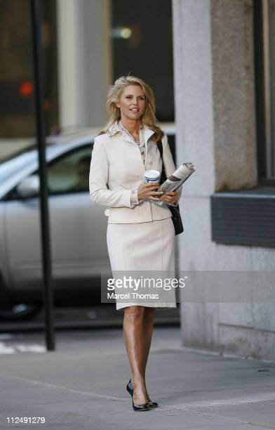 Christie Brinkley during Christie Brinkley Sighting on the Set of Her New Covergirl Commercial at Tribeca in New York City New York United States