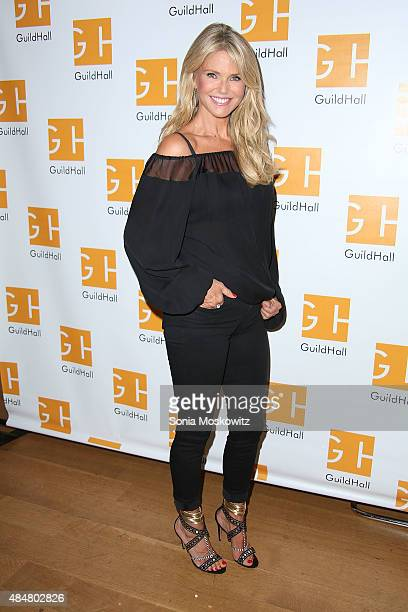 Christie Brinkley performs in 'Celebrity Autobiography' at Guild Hall on August 21 2015 in East Hampton New York