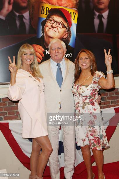 Christie Brinkley Phil Donahue and actress Marlo Thomas attends 'The Terms Of My Surrender' Broadway Opening Night at Belasco Theatre on August 10...