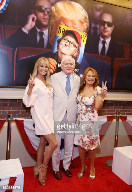 Christie Brinkley Phil Donahue and Marlo Thomas attend the Broadway Opening Night Performance for 'Michael Moore on Broadway' at the Belasco Theatre...