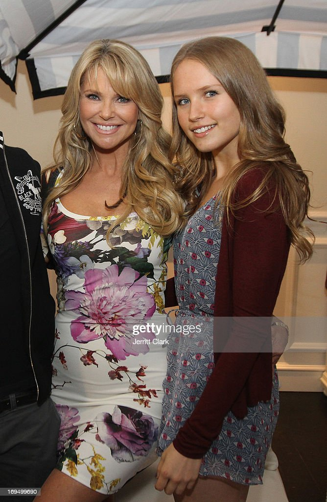 Christie Brinkley poses with daughter Sailor Lee Brinkley Cook at Christie Brinkley's 'Social Life Magazine' Cover Celebration on May 25, 2013 in Water Mill, New York.