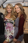 Christie Brinkley poses with daughter Sailor Lee Brinkley Cook at Christie Brinkley's 'Social Life Magazine' Cover Celebration on May 25 2013 in...