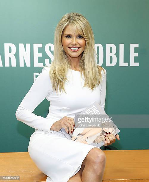 Christie Brinkley signs copies of 'Timeless Beauty Over 100 Tips Secrets and Shortcuts To Looking Great' at Barnes Noble 5th Avenue on November 10...