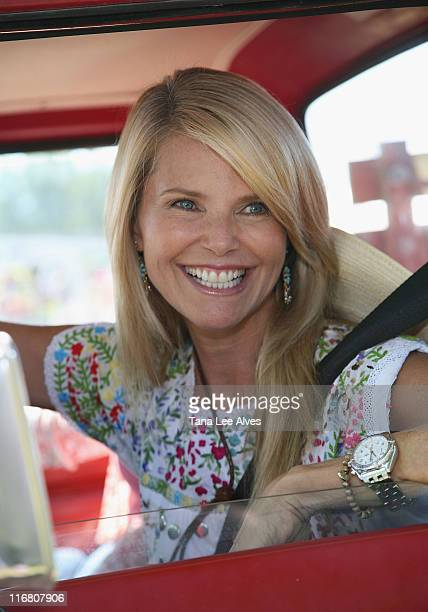 Christie Brinkley visits the 18th Annual Wild Wild West Carnival at the Diamond Ranch August 5 2007 in Water Mill New York