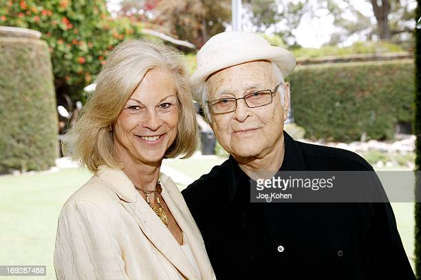 Christie Hefner and Norman Lear attends the Hugh M Hefner Awards ceremony at the Playboy Mansion honoring Norman Lear with a Lifetime Achievement...