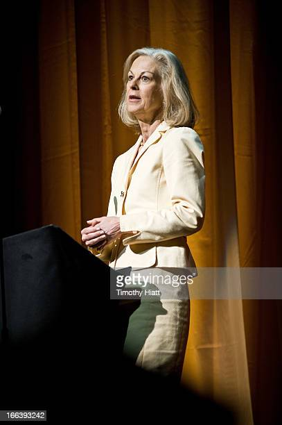 Christie Hefner attends the Roger Ebert Memorial Tribute at Chicago Theatre on April 11 2013 in Chicago Illinois