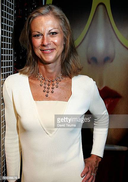 Christie Hefner Chairman and CEO of Playboy Enterprises Inc poses during the Playboy Autumn/Winter 2006 Collection Launch at the Playboy Concept...