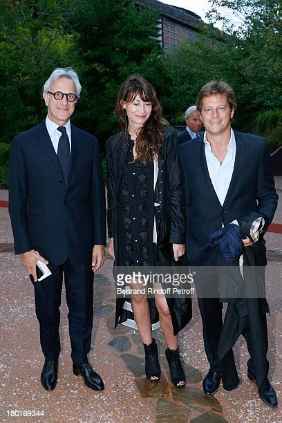 Christie's Auction Francois de Ricqles and Guest attend 'Friends of Quai Branly Museum Society' dinner party at Musee du Quai Branly on September 9...