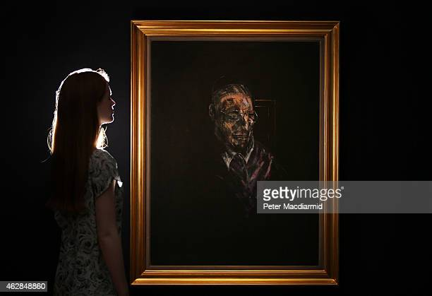 Christie's employee looks at Francis Bacon's 'Study for a Head' on February 6 2015 in London England Estimated in the region of £9 million the work...