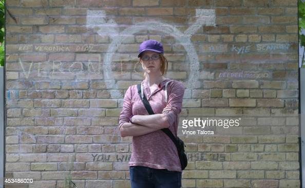 TORONTO ON JULY 17 Christin Milloy and the trans community pledges to protect the newly made memorial at Church and Wellesley in the newly named...