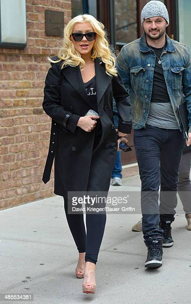 Christina Aguilera and Matt Rutler are seen on April 18 2014 in New York City