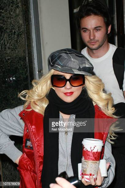 Christina Aguilera and Matt Rutler sighted leaving Claridges on December 14 2010 in London England