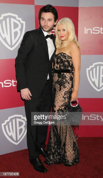 Christina Aguilera and Matthew Rutler arrive at the 12th Annual Warner Bros and Instyle PostGolden Globe Party at the Beverly Hilton Hotel on January...