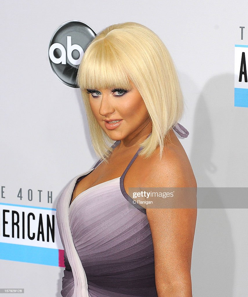 Christina Aguilera arrives at The 40th American Music Awards at Nokia Theatre L.A. Live on November 18, 2012 in Los Angeles, California.