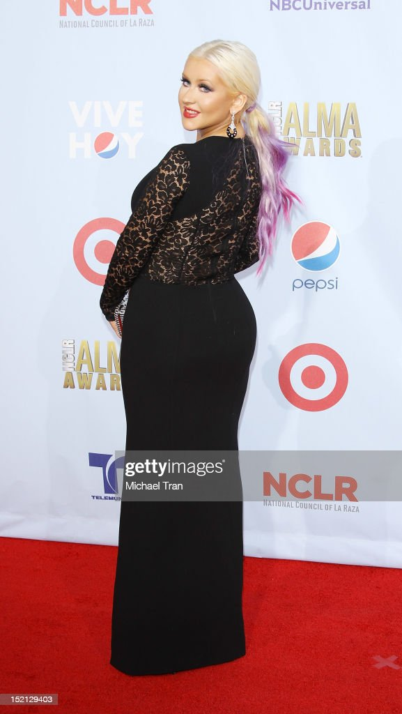 <a gi-track='captionPersonalityLinkClicked' href=/galleries/search?phrase=Christina+Aguilera&family=editorial&specificpeople=171272 ng-click='$event.stopPropagation()'>Christina Aguilera</a> arrives at the NCLR 2012 ALMA Awards held at Pasadena Civic Auditorium on September 16, 2012 in Pasadena, California.