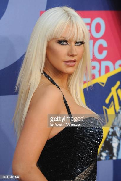 Christina Aguilera arrives for the MTV Video Music Awards 2008 at Paramount Studios Hollywood Los Angeles California