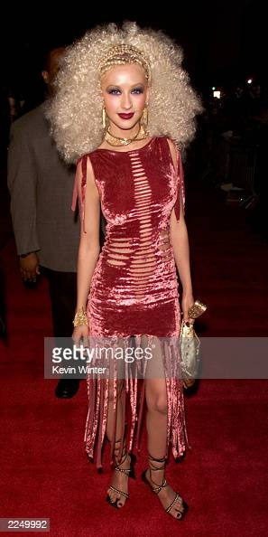 Christina Aguilera at the 7th Annual Blockbuster Entertainment Awards at the Shrine Auditorium in Los Angeles CA Tuesday April 10 2001