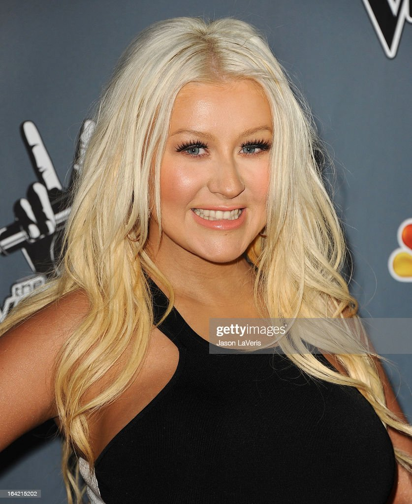 <a gi-track='captionPersonalityLinkClicked' href=/galleries/search?phrase=Christina+Aguilera&family=editorial&specificpeople=171272 ng-click='$event.stopPropagation()'>Christina Aguilera</a> attends NBC's 'The Voice' season 4 premiere at TCL Chinese Theatre on March 20, 2013 in Hollywood, California.