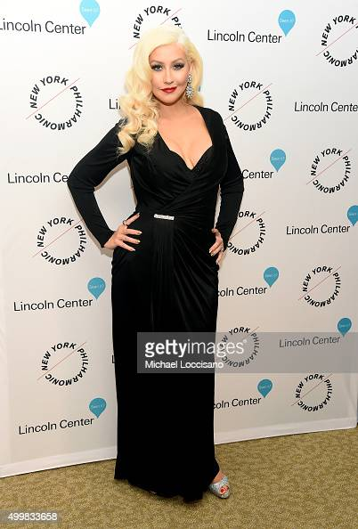 Christina Aguilera attends Sinatra Voice for A Century Event at David Geffen Hall on December 3 2015 in New York City