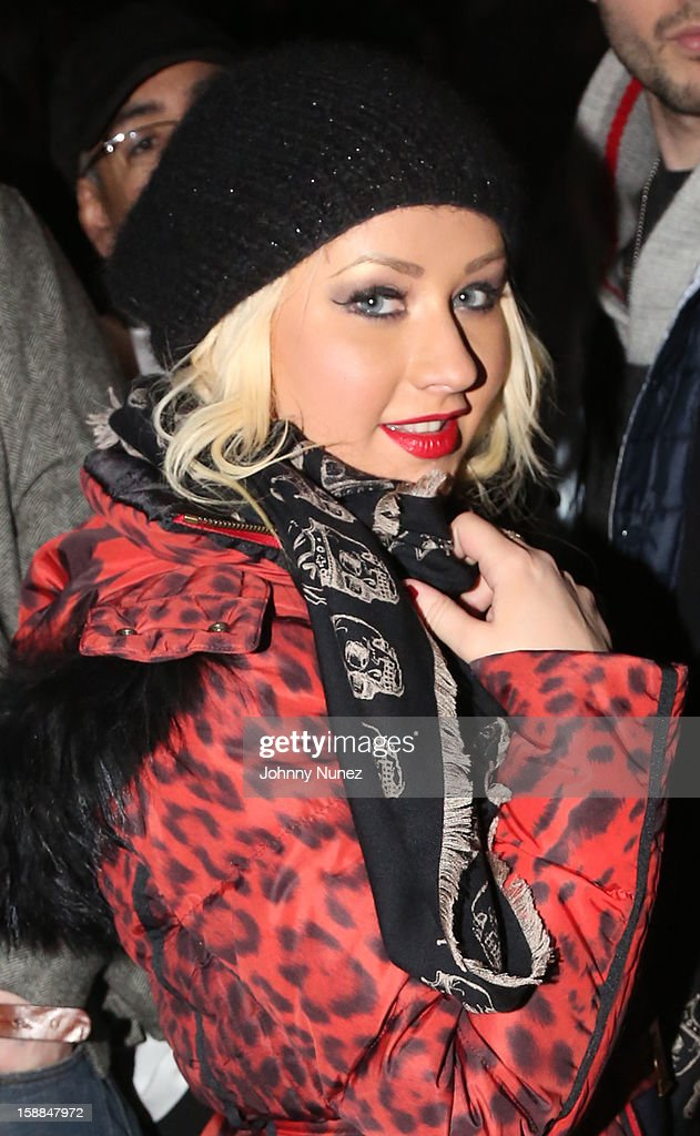 <a gi-track='captionPersonalityLinkClicked' href=/galleries/search?phrase=Christina+Aguilera&family=editorial&specificpeople=171272 ng-click='$event.stopPropagation()'>Christina Aguilera</a> attends the Barclays Center on December 31, 2012 in the Brooklyn borough of New York City.