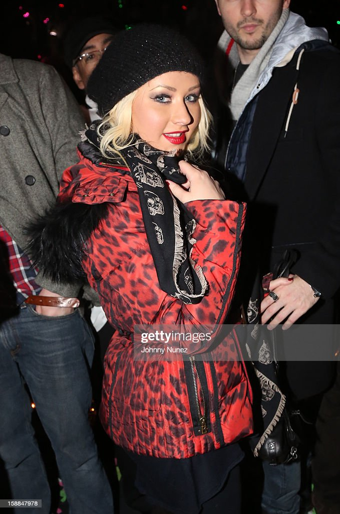 Christina Aguilera attends the Barclays Center on December 31, 2012 in the Brooklyn borough of New York City.