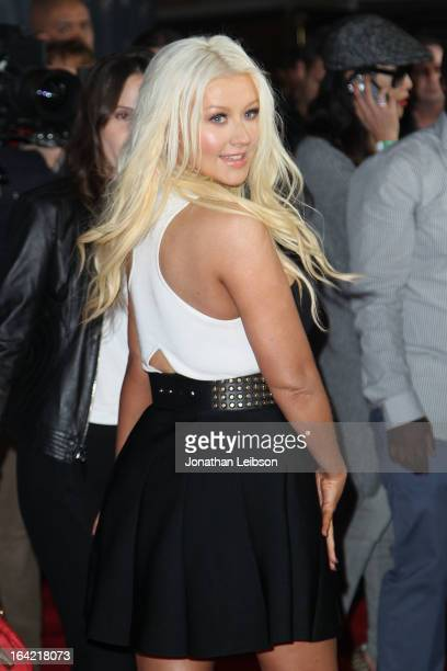Christina Aguilera attends the NBC's 'The Voice' Season 4 Premiere at TCL Chinese Theatre on March 20 2013 in Hollywood California