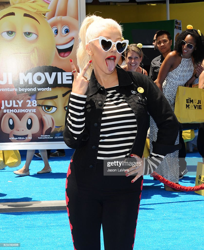Christina Aguilera attends the premiere of 'The Emoji Movie' at Regency Village Theatre on July 23, 2017 in Westwood, California.