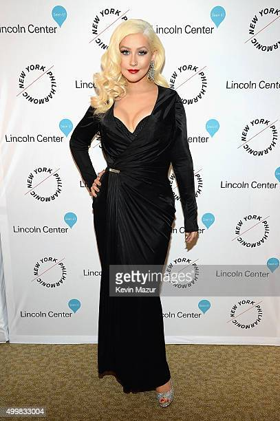 Christina Aguilera attends the Sinatra Gala with New York Philharmonic at Lincoln Center's David Geffen Hall on December 3 2015 in New York City
