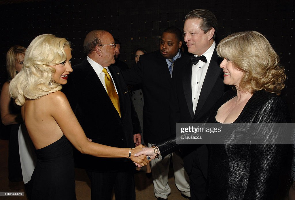 Christina Aguilera, Clive Davis, Chairman and CEO BMG US, Al Gore and Tipper Gore *EXCLUSIVE*