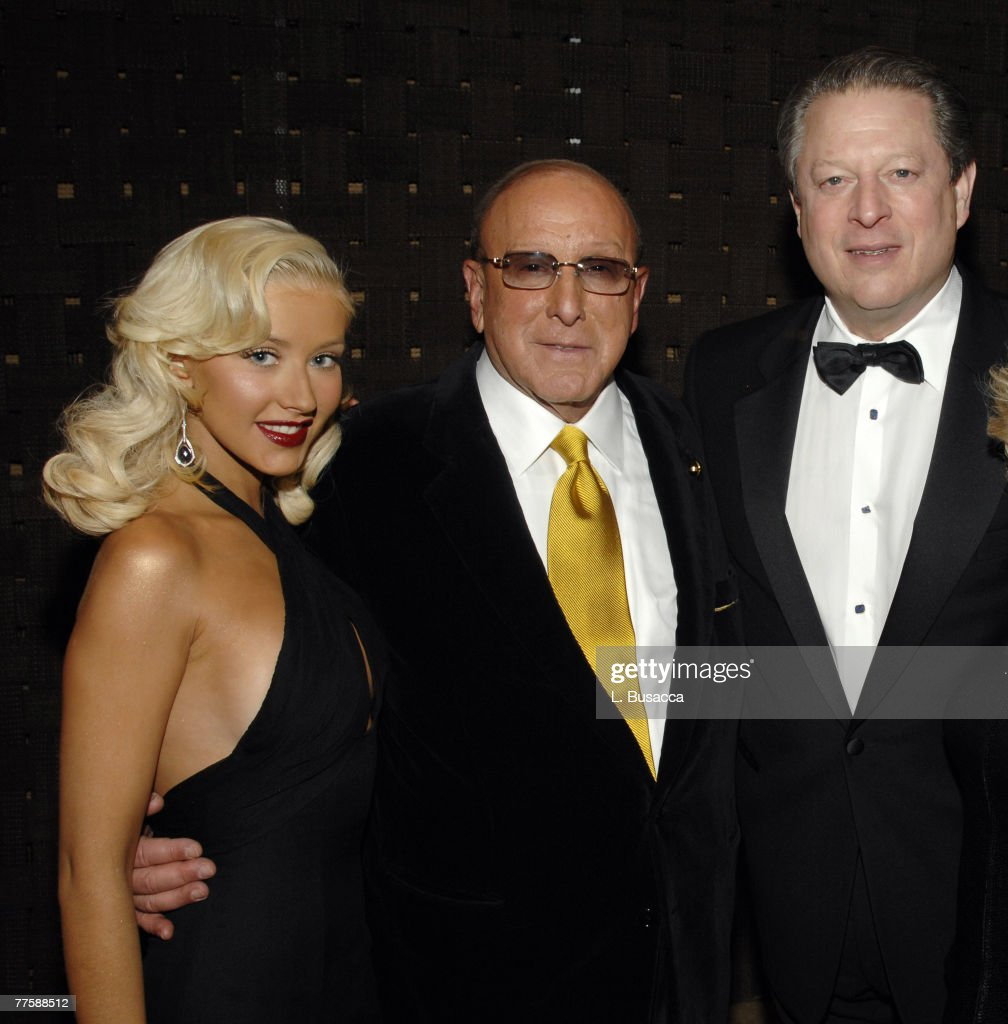 Christina Aguilera, Clive Davis, Chairman and CEO BMG US, and Al Gore *EXCLUSIVE*