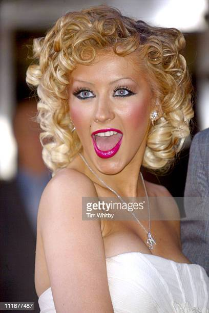 Christina Aguilera during Harrods' Summer Sale Opening at Harrods in London Great Britain